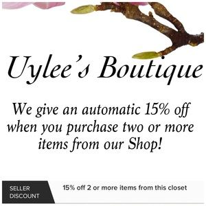 YOU GET 15% OFF TWO OR MORE ITEMS!!